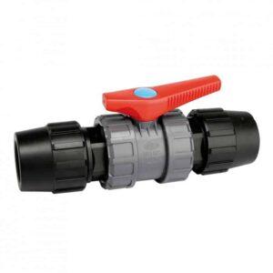 Válvula de PVC con enlace PE-PE-0